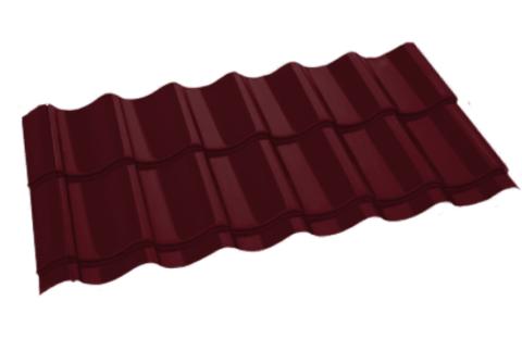 Металлочерепица Арарат Полиэстер RAL 3005 Красное вино