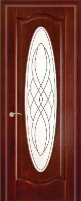 Дверь ПО Оливия Махагон, Витраж