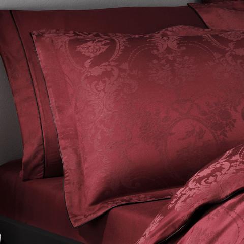 Постельное белье BORDEAUX бордовый жаккард  deluxe TIVOLYO HOME Турция