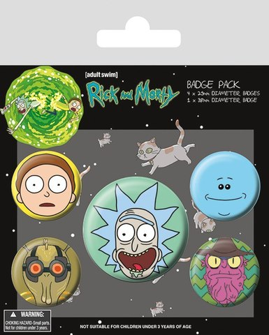 Набор значков Rick and Morty. Faces