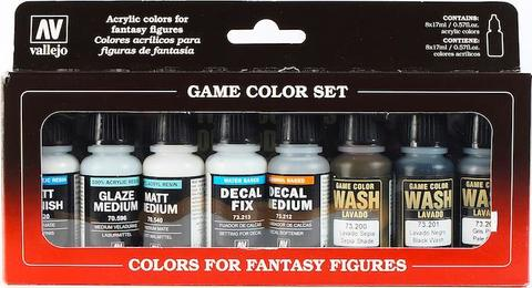 Game Color Auxiliaries and washes (8) 17 ml.