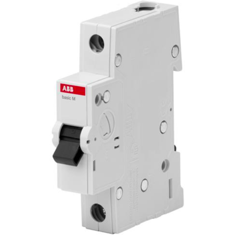 Автоматический выключатель 1-полюсный 25 A, тип C, 4,5 кА  BMS411C25. ABB. 2CDS641041R0254