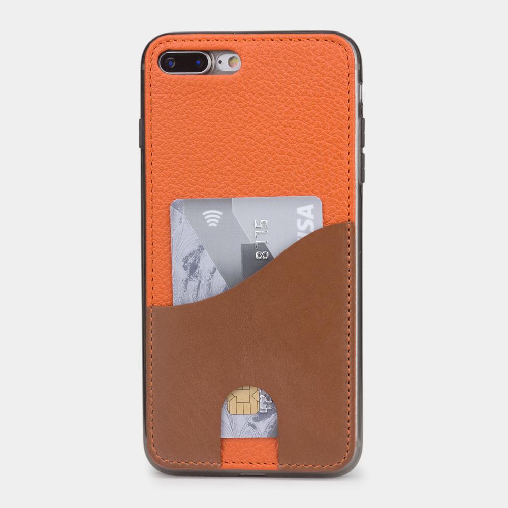 Чехол-накладка Andre для iPhone 7 Plus из натуральной кожи теленка, оранжевого цвета