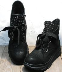 Сникерсы черные женские Rifellini Rovigo 525 Black.