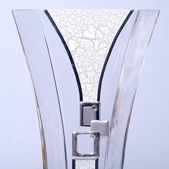 Ваза декоративная 35 см серебро 6768/В705