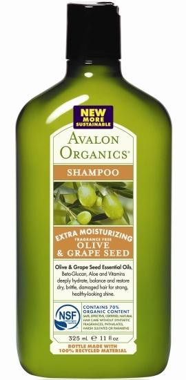 Экстраувлажняющий шампунь с оливой и виноградными косточками, Avalon Organics