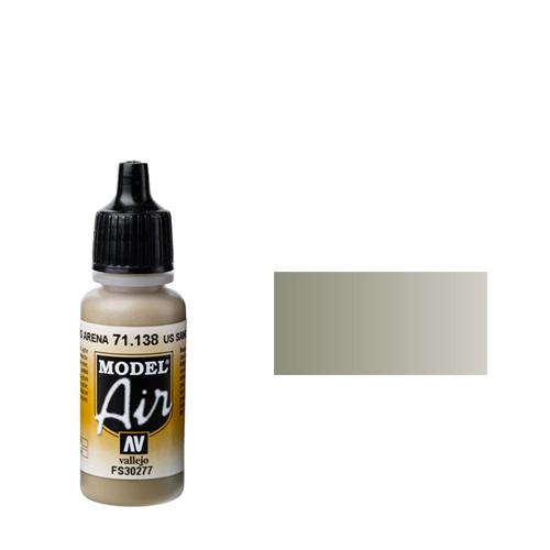 138 Краска Model Air US Песочный (US Sand) укрывистый, 17 мл
