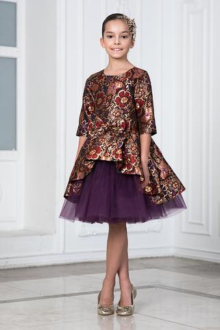 Нарядное платье из парчи (арт.404 фио)
