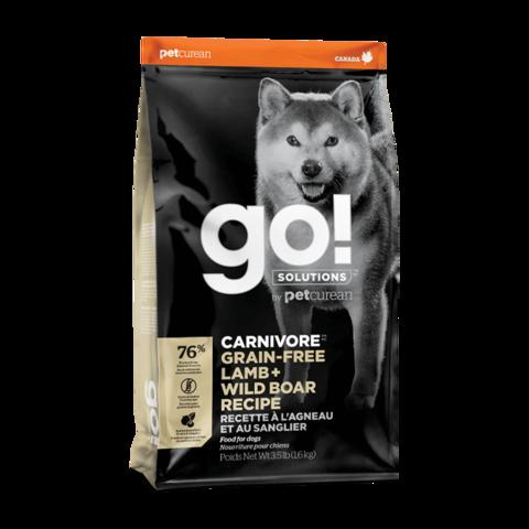 Go! Carnivore Сухой корм для собак с ягненком и мясом дикого кабана (беззерновой)