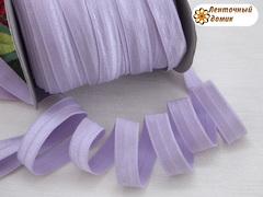 Резинка для повязок  с легким блеском сиреневая 16 мм