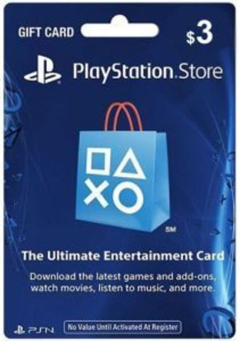 Карта оплаты PlayStation Network Card USA 3$ (код)