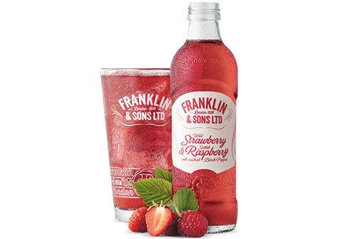 Напиток Franklin & Sons малина и земляника, 275мл