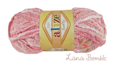 Пряжа Alize Softy розовый меланж 51304