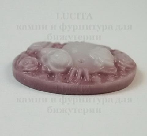 """Камея акриловая """"Китти"""" темно-розовая 25х18х5 мм ()"""