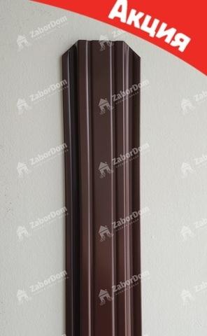 Евроштакетник металлический 85 мм RAL 8017 П - образный двусторонний 0.5 мм