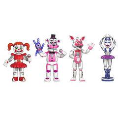 Коллекция фигурок из игры 5 Ночей с Фредди - Five Nights at Freddy's Sister 4 Figure Pack, Funko