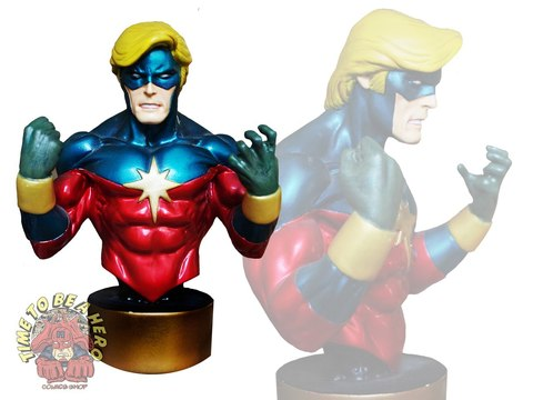 CAPTAIN MARVEL 70's MINI-BUST BY BOWEN DESIGNS, SCULPTED BY RANDY BOWEN уценка