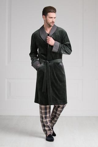 Велюровый мужской халат 20287  Laete Турция
