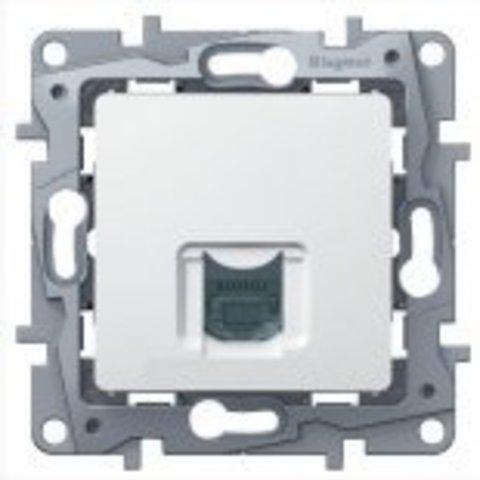 Компьютерная розетка RJ 45 6 UTP. Цвет Белый. Legrand Etika (Легранд Этика). 672253