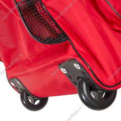 Хоккейный баул на колесах - красный большой