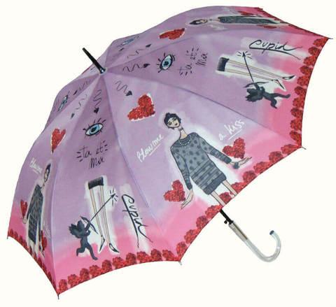 Купить онлайн Зонт-трость Perletti Chic 21194-3 Histoire d'Amour в магазине Зонтофф.
