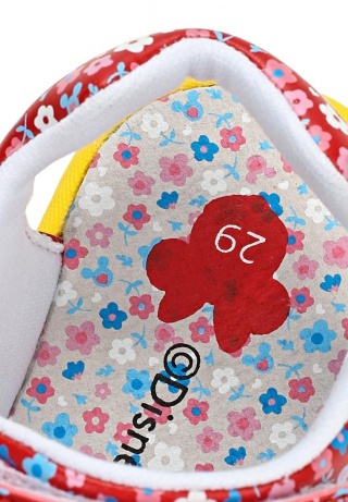 Босоножки Минни Маус (Minnie Mouse) на липучке открытые для девочек, цвет красный желтый
