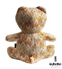 Подушка-игрушка антистресс «МиниМишка Вязаный» оранжевый 4