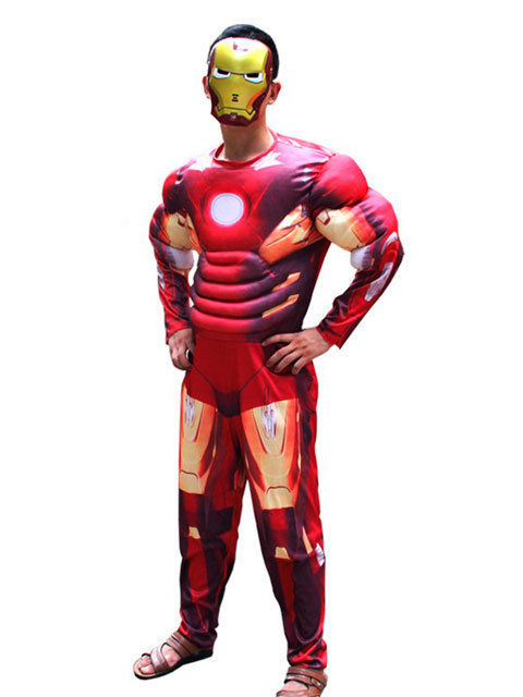 Костюм взрослый Железный человек красный