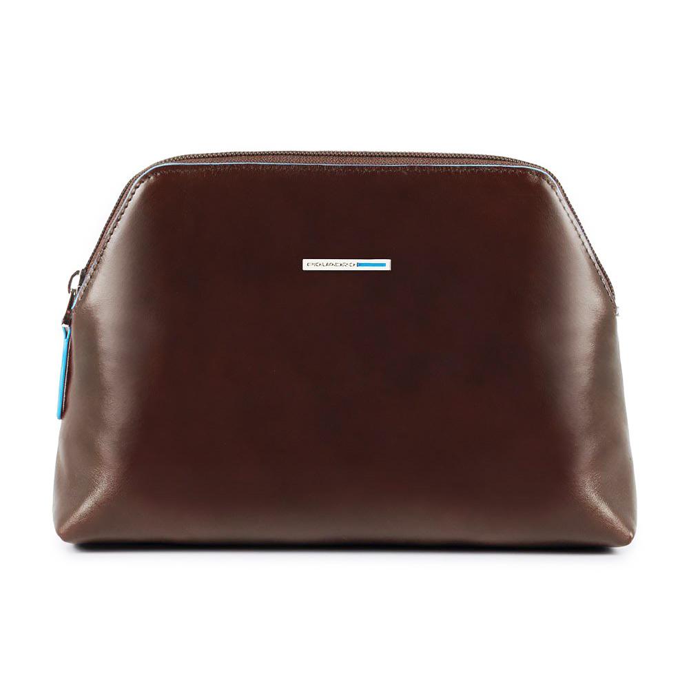 Косметичка Piquadro Blue Square, цвет коричневый, 21,5x14,5x5,5 см (BY3795B2/MO)