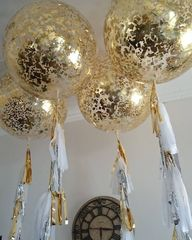 Большой шар с золотыми конфетти