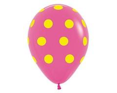 Воздушный шар «Цветной Горох» (Фуксия)