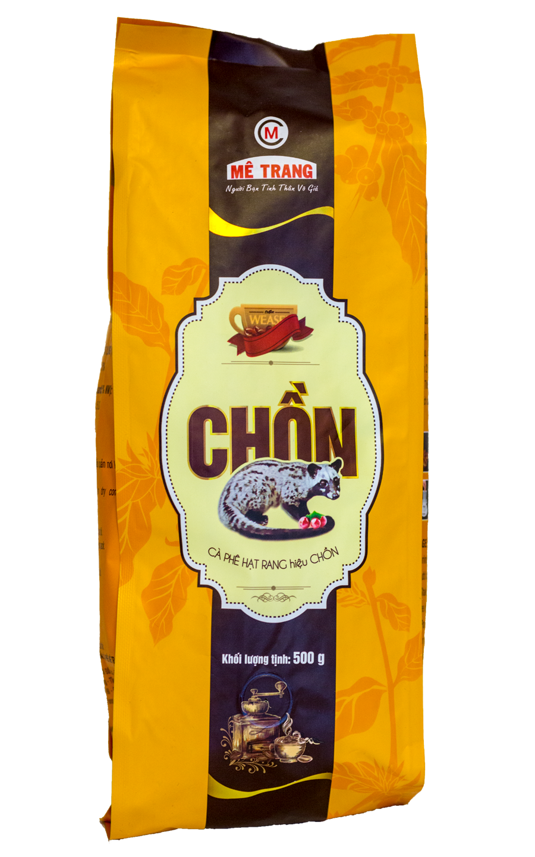 Кофе Me Trang Weasel Chon Kopi Luwak зерновой 500 гр
