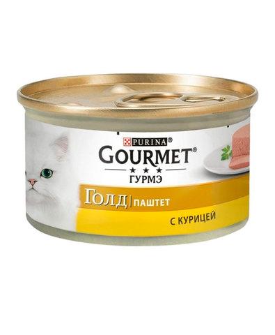Gourmet Gold паштет с курицей для взрослых кошек 85 г