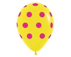 Воздушный шар «Цветной Горох» (Желтый)