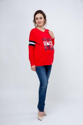 Блузка для беременных 09138 красный