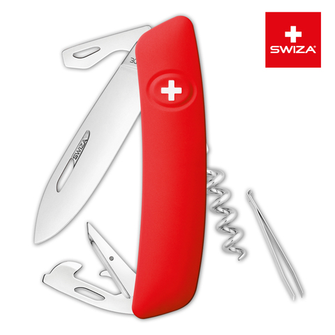 Швейцарский нож SWIZA D03 Standard, 95 мм, 11 функций, красный
