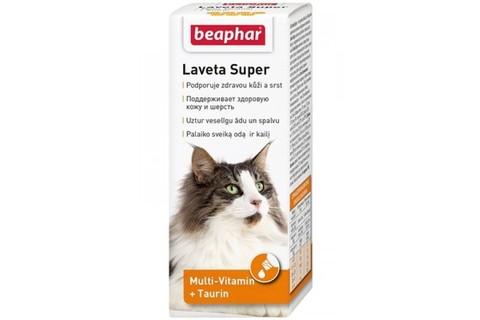 Beaphar Laveta super витамины для кошек для шерсти 50мл