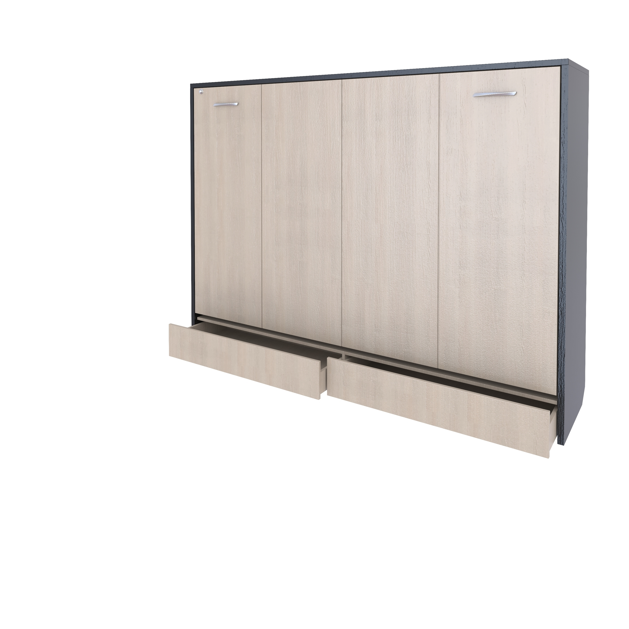Шкаф-кровать горизонтальная полутороспальная 120 см