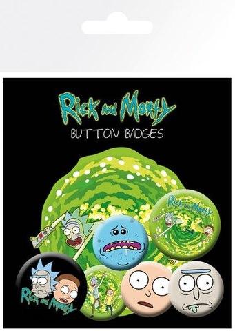Набор значков Rick and Morty