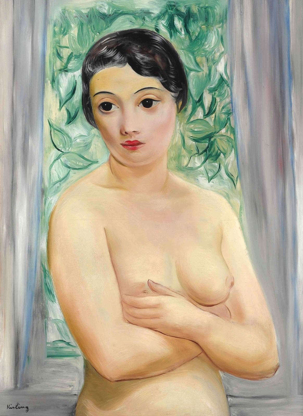 Моисей Кислинг. 1928. Кэтрин (Catherine).  81.3 x 60. Холст, масло. Частное собрание.