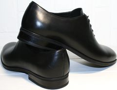 Осенние мужские туфли Ikos 006-1 Black