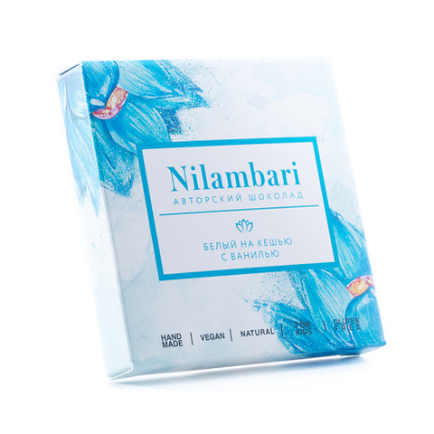 Шоколад белый с кешью Nilambari, 65 г