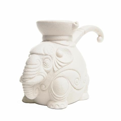 Турка фарфоровая «Слон большой белый» 400 мл