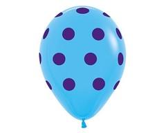 Воздушный шар «Цветной Горох» (Голубой)
