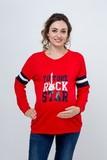 Джемпер для беременных 09138 красный