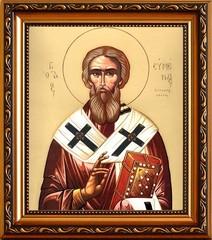 Евмений Гортинский Преподобный епископ. Икона на холсте.