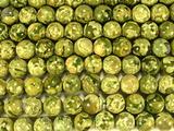 Нить бусин из яшмы риолит, шар гладкий 12мм