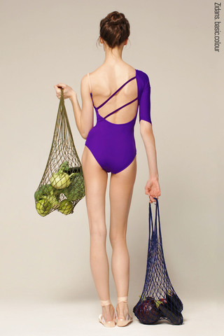 1 Sleeve 1 Strap leotard colour | violet