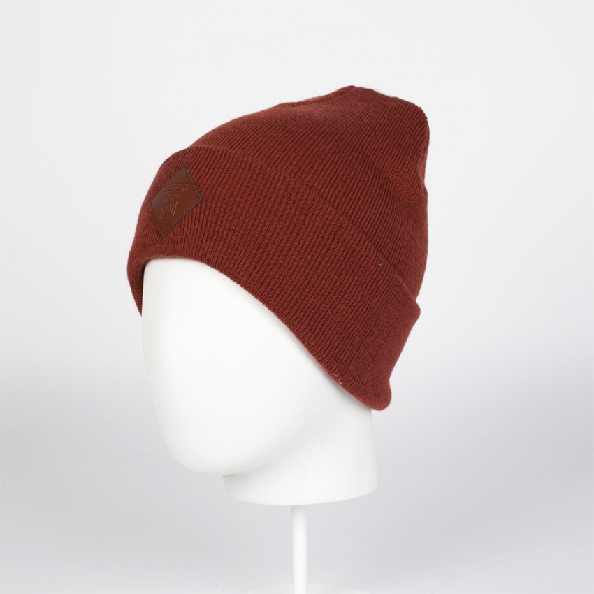 Шапка TRUESPIN SQUARE CLASSIC BEANIE BORDEAUX