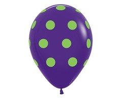 Воздушный шар «Цветной Горох» (Фиолетовый)